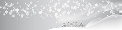 Weihnachtskarte-silber-Schnee