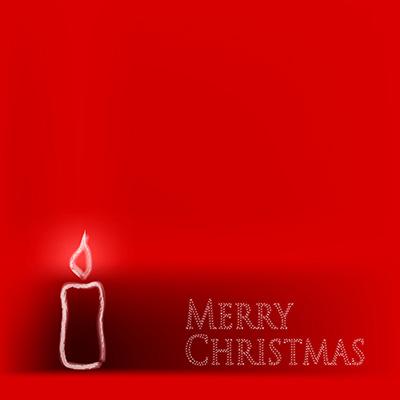 Weihnachtskarten-rot-Kerze