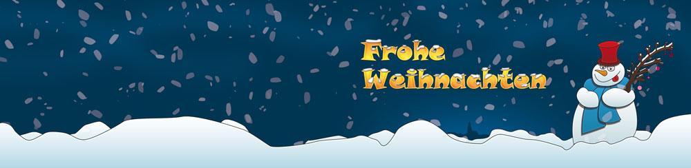 Weihnachtskarte-Schneemann-blau
