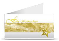 Weihnachtskarte weiß/gold