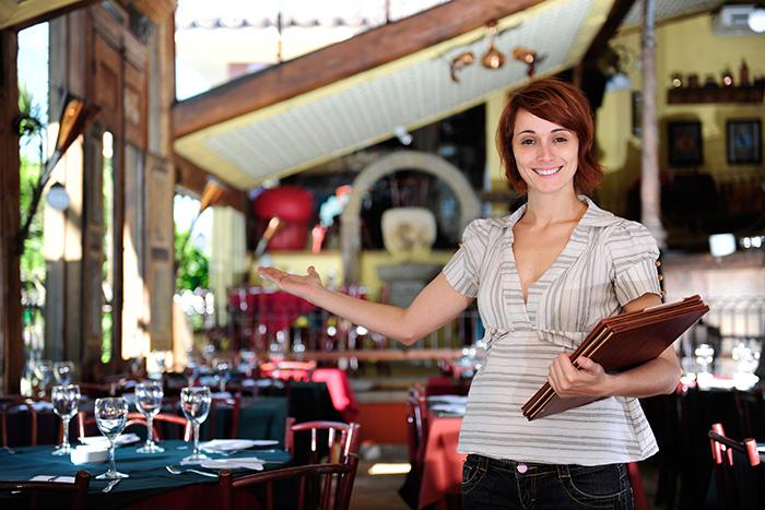 Restaurant Bedienung Speisekarte