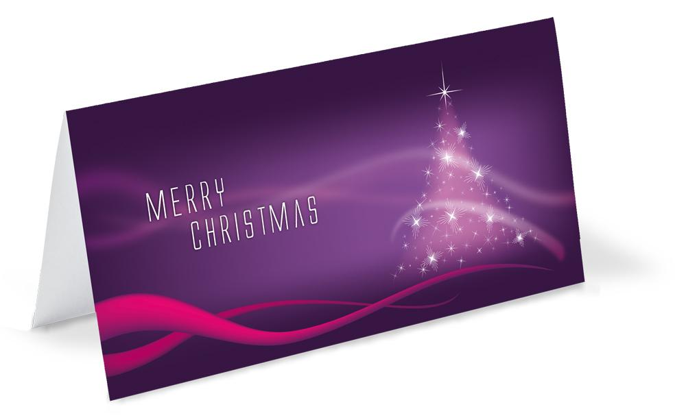 Weihnachtskarte-lila-pink-Baum