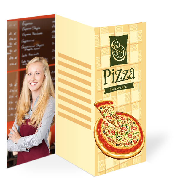 Pizzaflyer Folder DIN A3