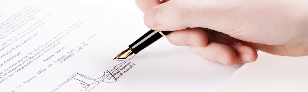 Professioneller Brief auf hochwertigem Briefpapier