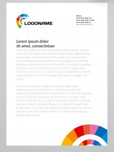 Briefpapier Layout mit Firmenlogo
