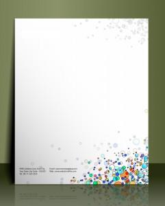 Briefpapier-Template mit Firmendesign