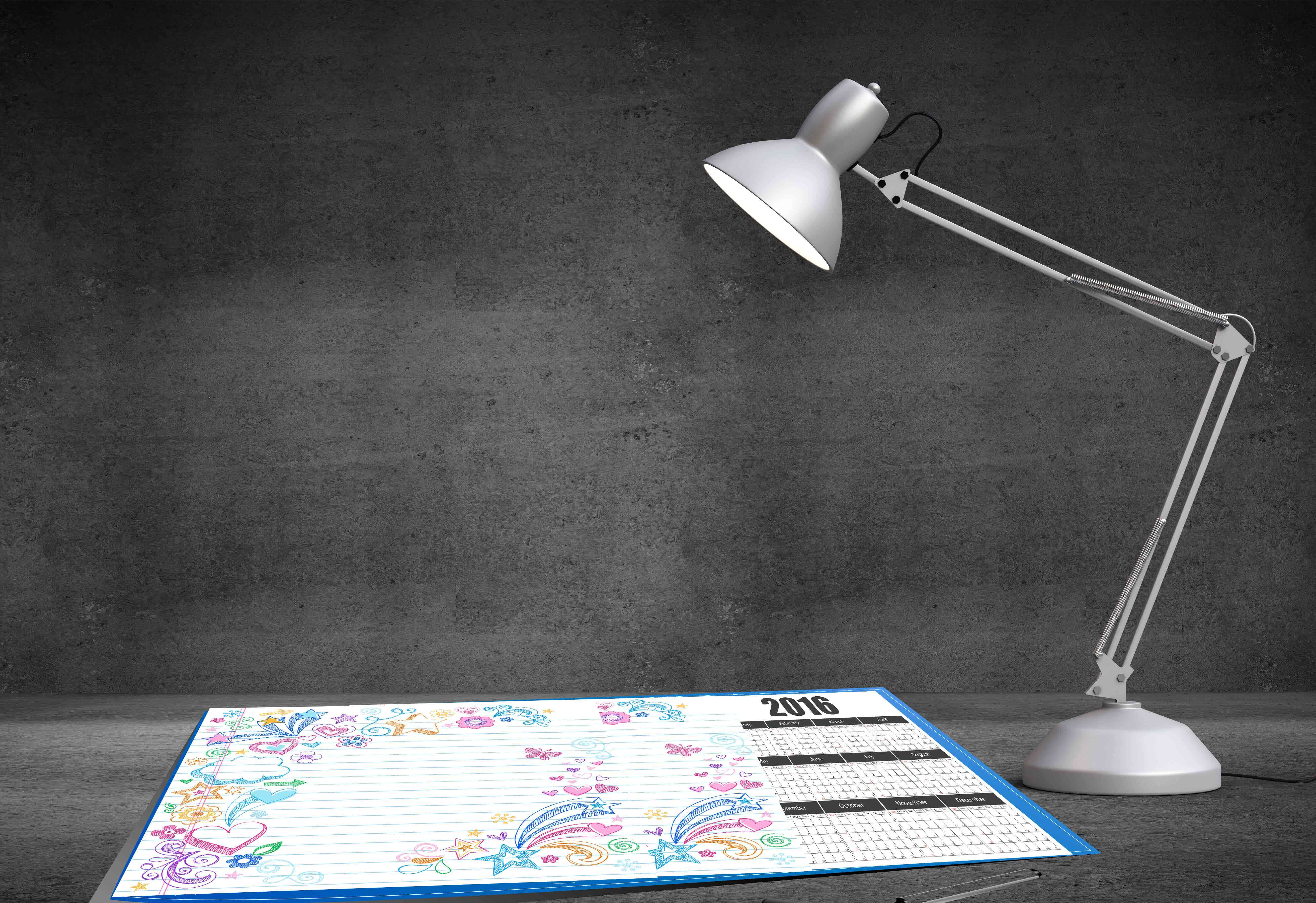 Individuelle Schreibtischunterlage Mit Kalender Und Bereich Für Notizen