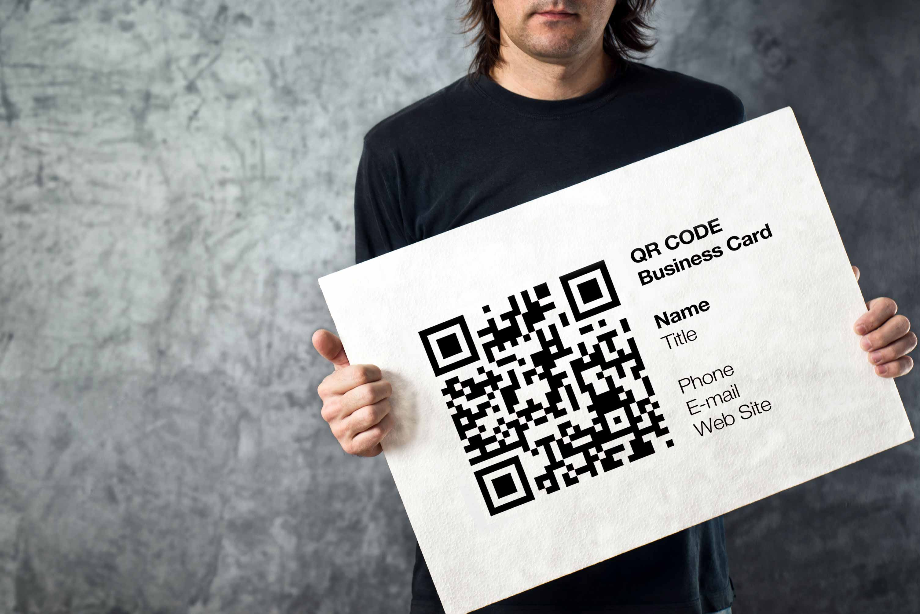 Auffällige Visitenkarte mit QR-Code