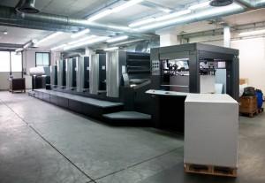 Druckmaschine mit 6 Druckwerken