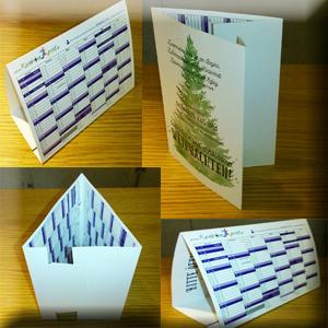 Weihnachtskarte & Tischkalender 2in1
